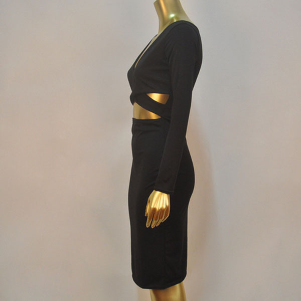 обтягивающее черное платье 3